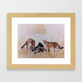 Foxes at four in the morning (Le Volpi del quattro di mattina) Framed Art Print