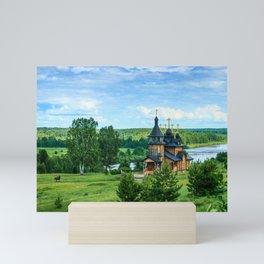 Village landscape Mini Art Print