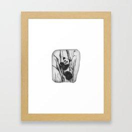Panda Bear in a tree by annmariescreations Framed Art Print