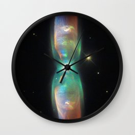 prism of the interdimensional iridescent | space #07 Wall Clock