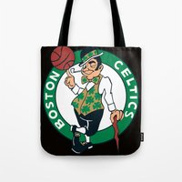 nba Tote Bags featuring NBA - Celtics by Katieb1013
