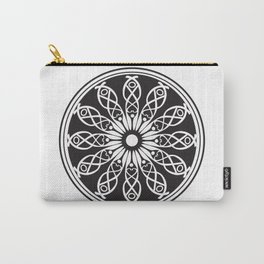 White flower mandala Carry-All Pouch
