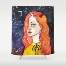 Evil Girl Shower Curtain