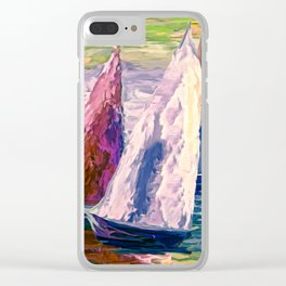 Wind on Sails by Lena Owens/OLena Art Clear iPhone Case