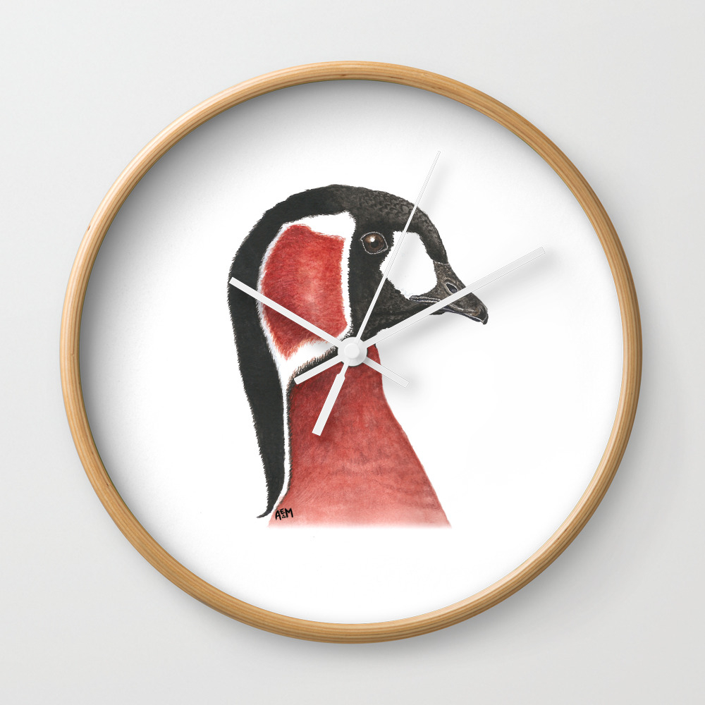 Red-Breasted Goose Wall Clock by sashaparula (CLK9962887) photo