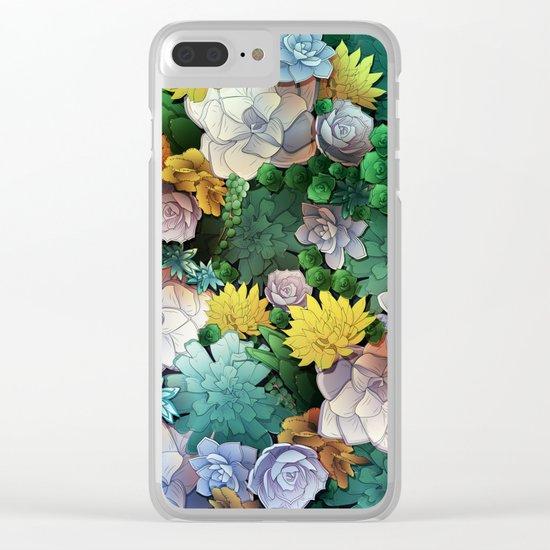Succulent World Clear iPhone Case