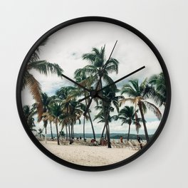 Palms on the Beach Wall Clock