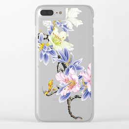 Hand-painted flowers Clear iPhone Case