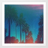 los angeles Art Prints featuring Los Angeles. by Polishpattern
