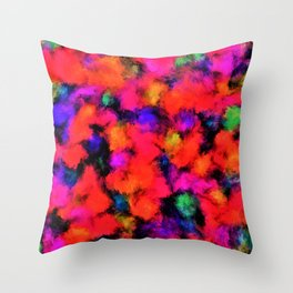 Bright Rainbow Colors Throw Pillow