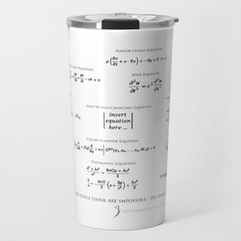 High-Math Inspiration 01 - Black Travel Mug