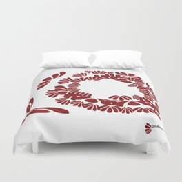 Brick Red: a strong foundation Duvet Cover