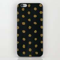 gold dots iPhone & iPod Skins featuring GOLD DOTS by natalie sales
