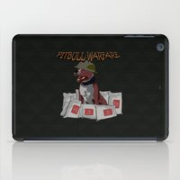 pitbull iPad Cases featuring Pitbull Warfare by dr.Mador