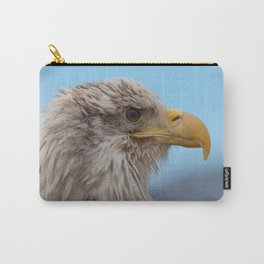White Headed Eagle Portrait. Carry-All Pouch