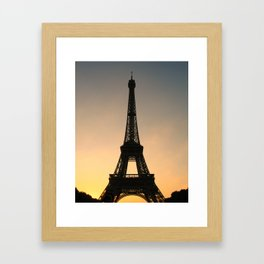 Eiffel Tower Daybreak Framed Art Print