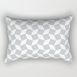 Light Grey Op Art Pattern Rectangular Pillow
