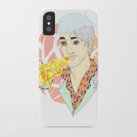 fitness iPhone & iPod Cases featuring His Fitness Regime by percieandbert