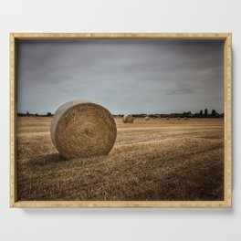 Bales of hay Serving Tray