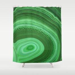 Green Agate Shower Curtain
