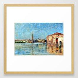 Carl Skånberg Doge's Palace Venetian Canal Scene Framed Art Print