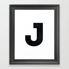 Just J Framed Art Print