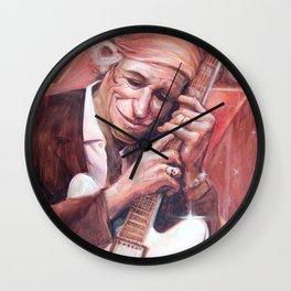 Keith Richard Caricature Portrait Wall Clock
