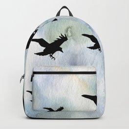 Birds over Water | Crows flying | Abstract birds | Bird aesthtic Backpack