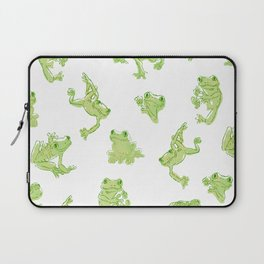 Froggy Frog large green Laptop Sleeve
