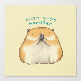 Hungry Hungry Hamster Canvas Print