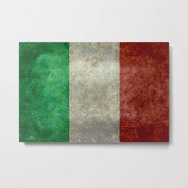 Italian flag, vintage retro style Metal Print