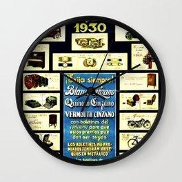 1930 General Italian Merchandise Cinzano Advertising Poster Wall Clock