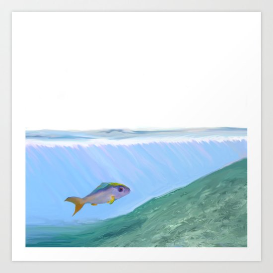 A Fish One Day Art Print