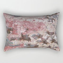 Cracking Paint and Rust Abstract Rectangular Pillow