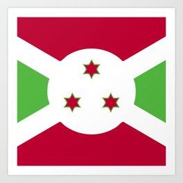 Burundi flag emblem Art Print