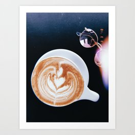 Coffee & Shades Art Print