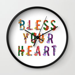 Bless Your Heart Meaning Southern Insult Humor Wall Clock