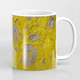 Yellow Peeling Paint on Concrete 1 Coffee Mug