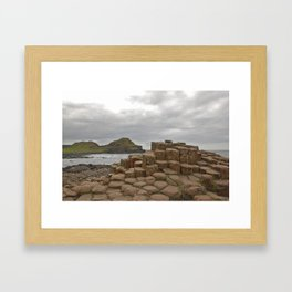 Giant's Causeway stones Framed Art Print