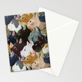 Never ending cats Stationery Cards