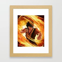 The fire lord Framed Art Print