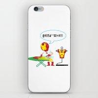 superheros iPhone & iPod Skins featuring Ironing Man by Seedoiben