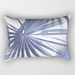 Pale Blue Violet Tropical Beach Palm Fan Vector Rectangular Pillow