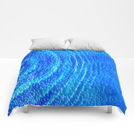 Blue Rippling Water Air Bubbles Comforters