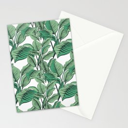 Exotic Tropical Banana Palm Leaf Print Stationery Cards