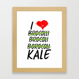 Kale Art for Vegans, Vegetarians n Broccoli Lovers Light Framed Art Print