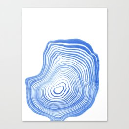 Ryu - spilled ink indigo watercolor painting abstract art marble swirl ocean wave marbled pattern  Canvas Print