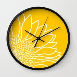 Sunflower Cheerfulness Wall Clock