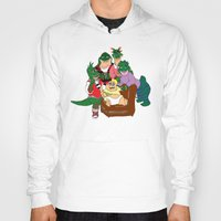 dinosaurs Hoodies featuring Dinosaurs by Dionisia Tzavalas