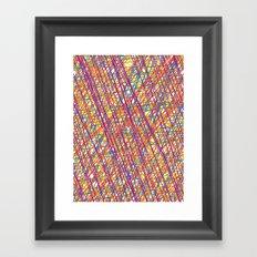 Scribble Crazy Framed Art Print